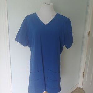 NWOT Activate Scrub Top Royal Blue Size 2XL